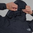 Kurtka The North Face Venture 2 Jacket - tnf black/tnf black - ściągacz na kapturze