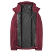 Kurtka damska The North Face Dryzzle Jacket - deep garnet red - odpięta