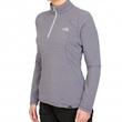 Polar damski The North Face 100 Glacier 1/4 Zip - greystone blue stripe