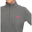 Polar damski The North Face W Glacier 1/4 Zip - graphite grey heather/pink