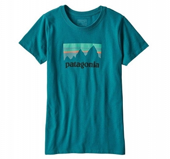 Koszulka damska Patagonia Shop Sticker Cotton/Poly Responsibili-Tee