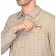 Koszula The North Face Ventilation Shirt LS - dune beige plaid kieszeń