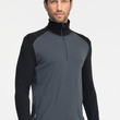 Koszulka Icebreaker 260 Tech Top Half Zip - monsoon/black