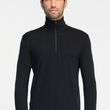 Koszulka Icebreaker 260 Tech Top Half Zip - black