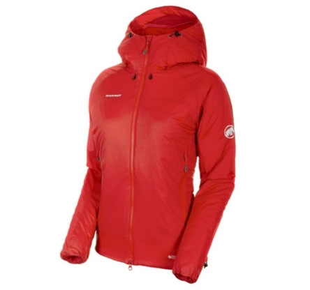 Kurtka damska Mammut Rime IN Flex Hooded Jacket - magma