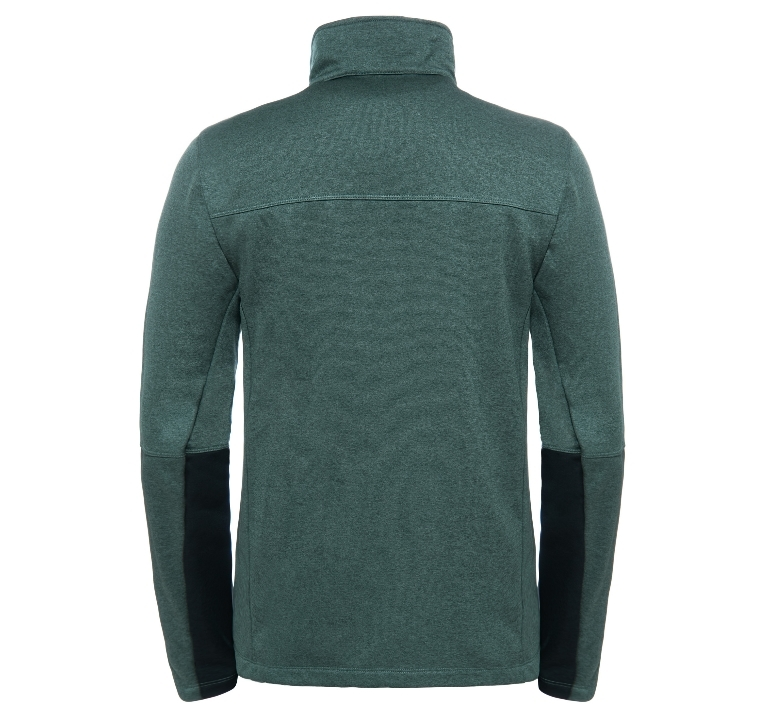 Bluza The North Face Canyonlands Full Zip '18 - duck green heather  - tył