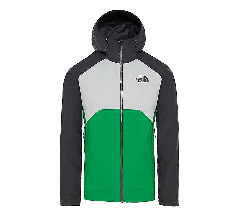Kurtka The North Face Stratos Jacket - asphalt grey/high rise grey/primary green