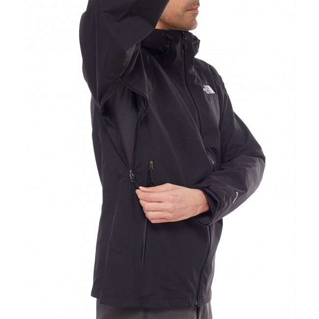 Kurtka The North Face Stratos Jacket - tnf black - wentylacja pod pachami