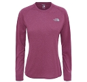 Koszulka damska The North Face Reaxion Amp LS Crew - amaranth purple heather