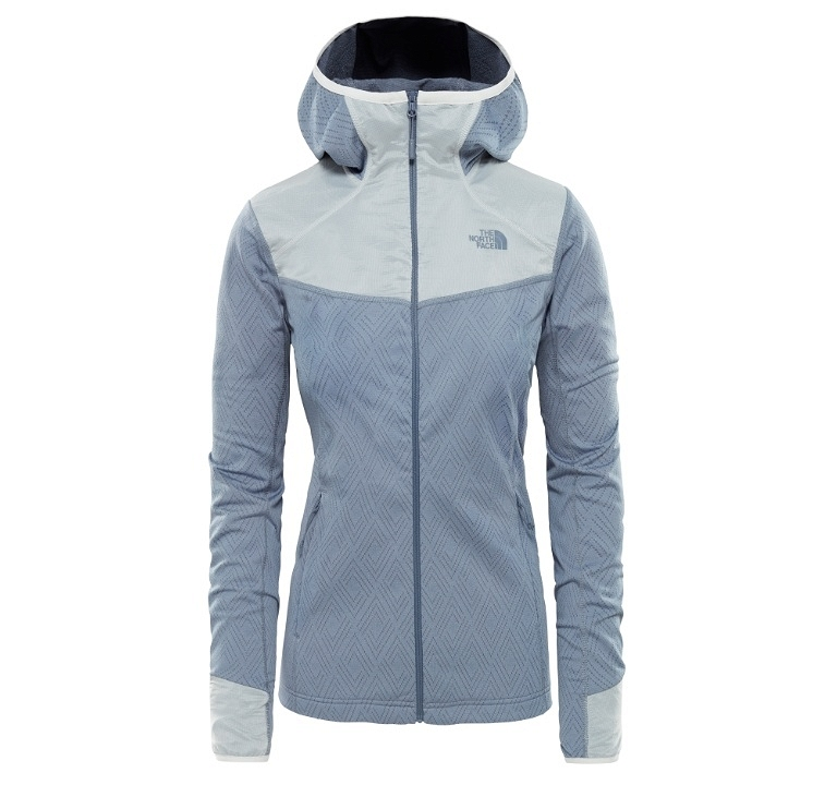 Bluza damska The North Face Inlux Tech Midlayer - grisaille grey