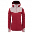 Bluza damska The North Face Inlux Tech Midlayer - rumba red/fig
