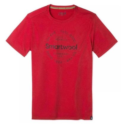 Koszulka Smartwool Merino Sport 150 Go Far Feel Good Tee - chili pepper heather