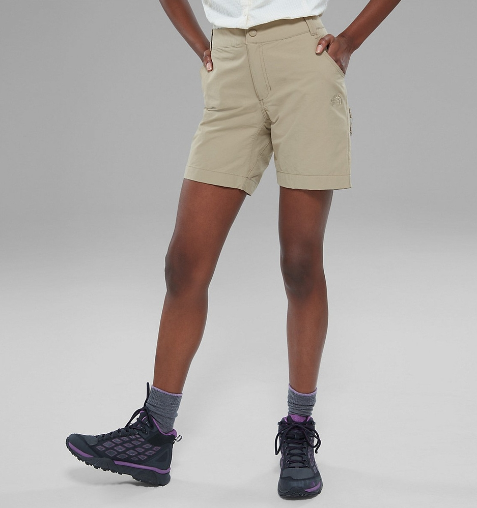 Spodenki damskie The North Face Exploration Short - dune beige - przód