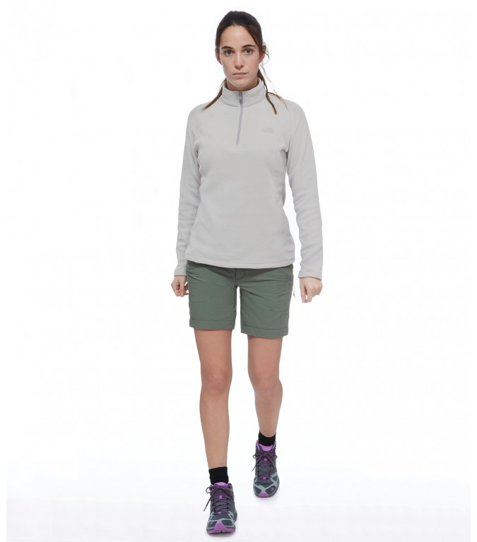 Spodenki damskie The North Face Exploration Short - laurel wreath green - przód
