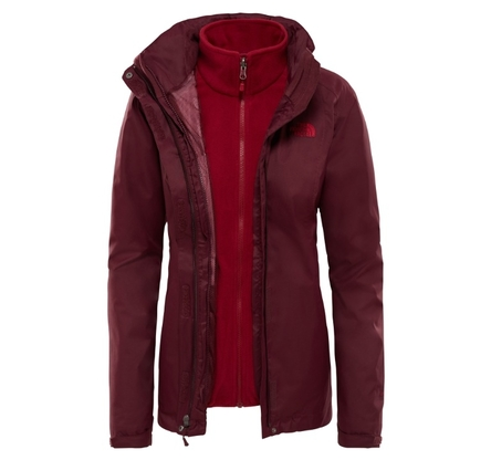 Kurtka damska The North Face Evolve II Triclimate - fig/rumba red