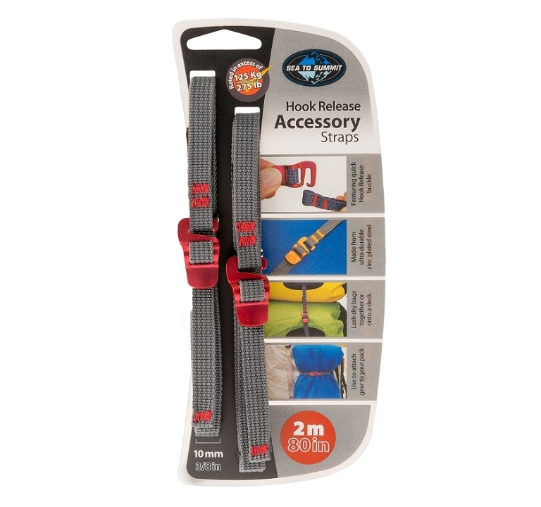 Trok SeaToSummit Accessory Straps with Hook Release - red