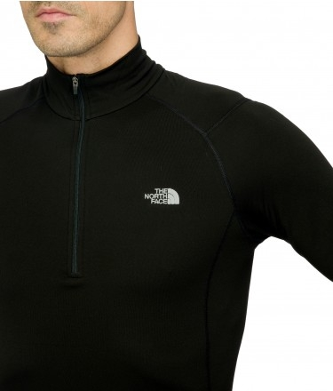 Koszulka The North Face Warm Long Sleeve Zip Neck- tnf black