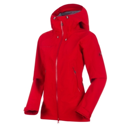 Kurtka damska Mammut Ridge HS Hooded Jacket - magma