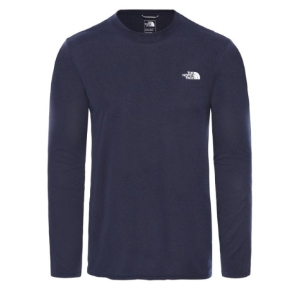 Koszulka The North Face Reaxion Amp L/S Crew - montague blue heather