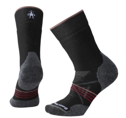Skarpety damskie Smartwool PhD Outdoor Medium Crew - black-tibetan red