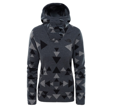 Polar damski The North Face Crescent Hooded Pullover '18 - mid grey/aztec print