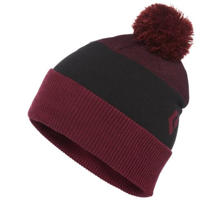 Czapka Black Diamond Pom Beanie - bordeaux/black