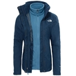 Kurtka damska The North Face Evolution Triclimate II - ink blue - rozpięta