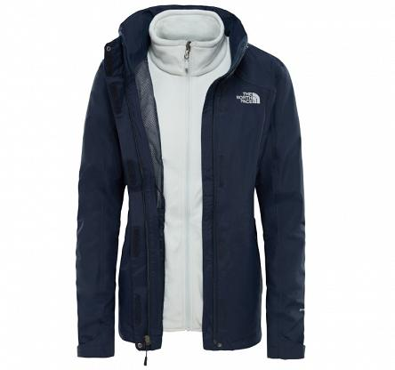 Kurtka damska The North Face Evolution Triclimate II - urban navy/tin grey