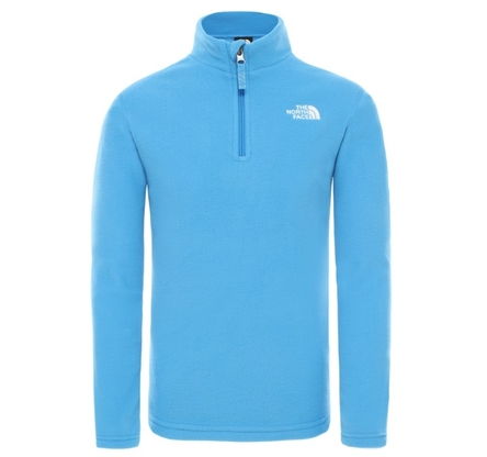 Polar The North Face 100 Glacier 1/4 Zip - clear lake blue