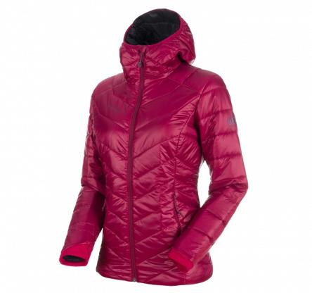 Kurtka damska Mammut Rime IN Hooded Jacket - beet-phantom