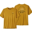 Koszulka Patagonia Cap Cool Daily Graphic Shirt - MTB Crest: Hawk Gold X-Dye