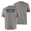 Koszulka Patagonia Cap Cool Daily Graphic Shirt - P-6 logo/geather grey