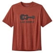 Koszulka Patagonia Cap Cool Daily Graphic Shirt - live simply guitar/roots red x-dye