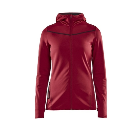 Bluza damska Craft Eaze Sweat Hood Jacket - rhubarb