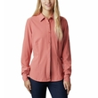Koszula damska Columbia Saturday Trail Stretch Long Sleeve Shirt - dark coral